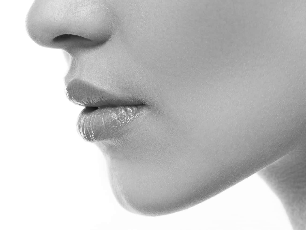 Closeup of Lips Enhanced by Plastic Surgery in Atlanta